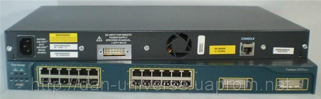 Коммутатор Cisco WS-C2950-24 (24 10/100 ports and 2 fixed 100BASE-FX uplink ports)