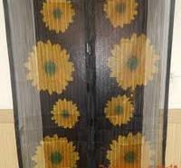 Москитная сетка на дверь Magic Mesh Меджик Меш с подсолнухами