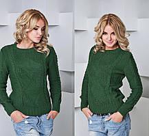 Теплый вязаный свитер (расцветки)