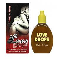 Возбуждающие капли для женщин и мужчин LOVE DROPS, 30 мл.