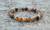 Стрейчавые браслеты из натуральных камней