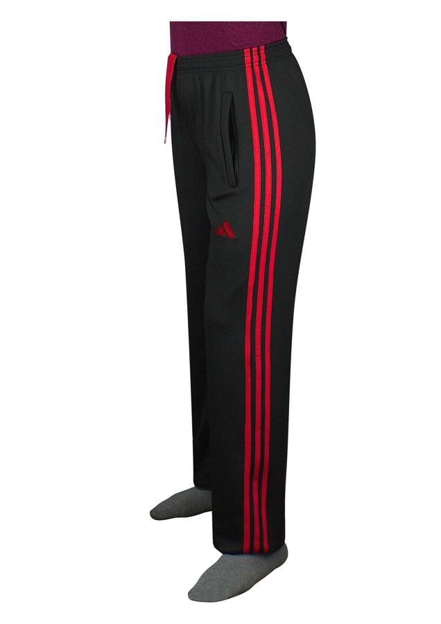 женские брюки для спорта с красными деталями - фото teens.ua