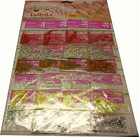 Декор на листе палочки в ассортименте 24 шт, декор YRE DK-45-02, материалы для наращивания ногтей