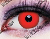 Красные линзы для глаз купить в интернет магазине недорого в Украине. Большой ассортимент. Бесплатная доставка, фото 1