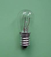 Электро лампа 220 V 15Wt цоколь Е14 для холодильников, швейных машин