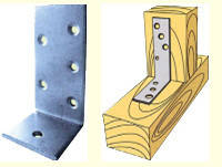 Угол асимметричный 100х75х2,5х30 для деревянных конструкций