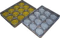 Набор бульонок в прозрачных баночках 12шт, бульонки для ногтей YRE DВ-01, бульонки оптом