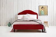 """Двоспальне ліжко """"Mary"""" 160*200 з м'яким фігурним узголів'ям декорованим гвоздиками на дерев'яних ніжках"""