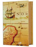 """Сейф-книга """"Карта"""" Размеры: 27-18-7 см"""