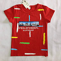 Детская футболка для мальчика оптом на 8-11 лет
