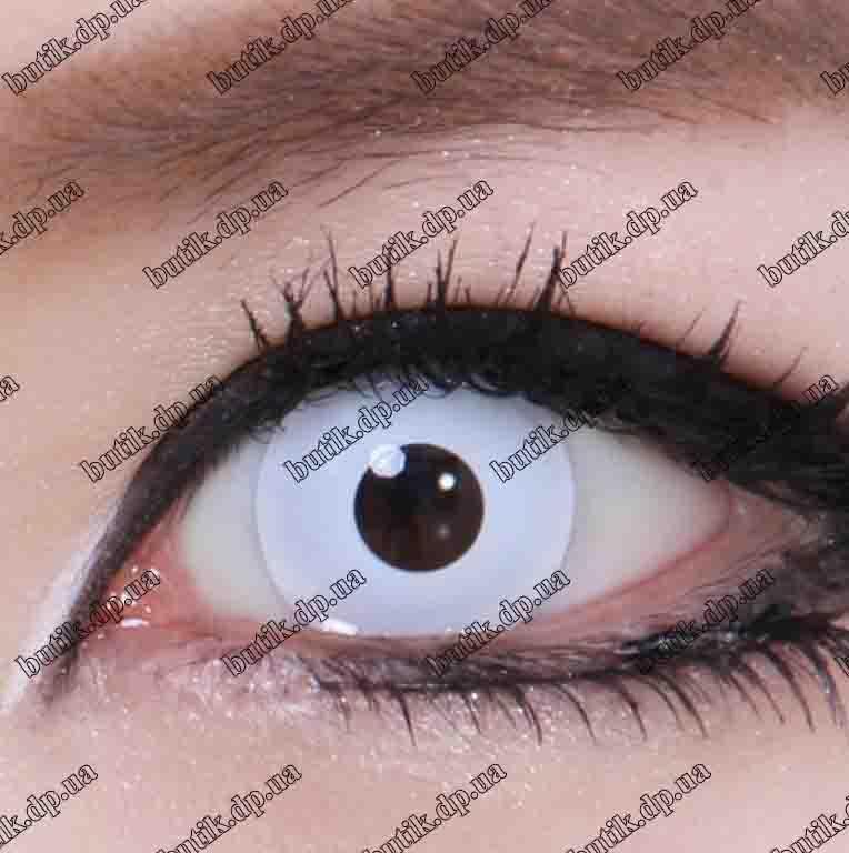 Белые линзы для глаз купить недорого в интернет магазине Украины. Большой ассортимент. Бесплатная доставка.
