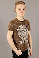 Футболка мужская коричневая варенка Fibak Размеры M/46, фото 1