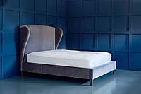 """Двоспальне ліжко """"Woolf"""" 160*200 з м'яким високим узголів'ям і вушками"""