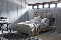 """Двоспальне ліжко """"Cap"""" 160*200 з м'яким високим узголів'ям з плиток"""