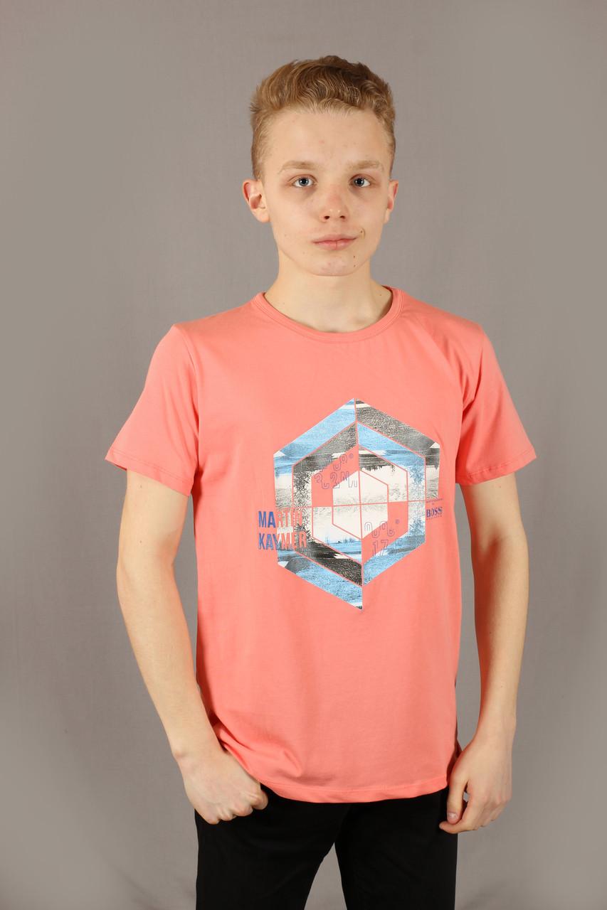 Футболка мужская коралловая Hugo Boss Размеры XXL(54/56)
