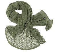 Маскировочный шарф-сетка 190*90 cm. в расцветке olive. Mil-tec, Германия.