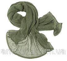 Маскувальний шарф-сітка 190*90 cm. у забарвленні olive. Mil-tec, Німеччина.