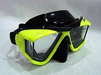 """Маска для подводной охоты и дайвинга """"3-vision"""", черно-желтая"""