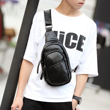 Мужская маленькая кожаная сумка. Модель 2220
