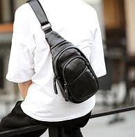 Мужская маленькая кожаная сумка. Модель 2220, фото 2