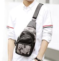 Мужская маленькая кожаная сумка. Модель 2220, фото 3