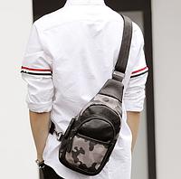 Мужская маленькая кожаная сумка. Модель 2220, фото 4