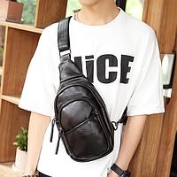 Мужская маленькая кожаная сумка. Модель 2220, фото 5