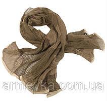 Маскувальний шарф-сітка 190*90 cm. у забарвленні 3-col. Desert. Mil-tec, Німеччина.