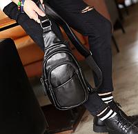 Мужская маленькая кожаная сумка. Модель 2220, фото 6