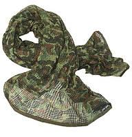 Маскувальний шарф-сітка 190*90 cm. у забарвленні Flecktarn. Mil-tec, Німеччина.