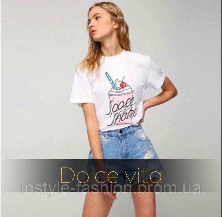 c2e3225400d Модная и стильная футболка Коктейль ткань турецкая вискоза белая ...