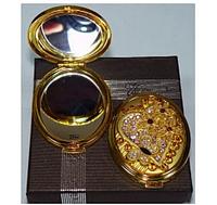 Карманное зеркало двухстороннее в подарочной упаковке