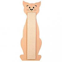 Когтеточка Cat Contour, 21*58см, сизаль/дерево, Трикси 43161