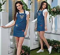 Сарафан джинсовый в расцветках 18486