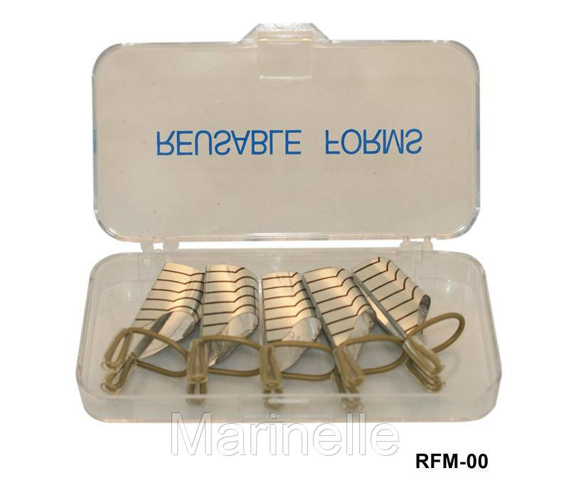 Тефлоновая форма для наращивания ногтей многоразовая, форма YRE RFM-00, материалы для наращивания ногтей - Marinelle в Харькове