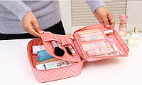 Косметичка женская розовая органайзер для косметики дорожная сумка чемодан в путешествие несессер новая