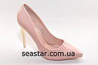 Туфли остроносые нежно-розового цвета для женщин