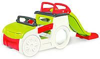 """Игровой центр """"Автомобиль приключений"""" Smoby - Франция - горка, интерактивный руль,песочница"""
