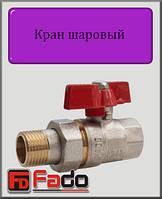 """Кран шаровый с американкой Fado NEW 3/4"""" НВ прямой (красный)"""