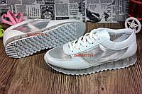 Стильные женские летние кроссовки белого цвета с дышащими вставками. Шикарное качество товара