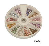 Стразы-капли разноцветные, большие камни YRE KMK-04, маникюр со стразами
