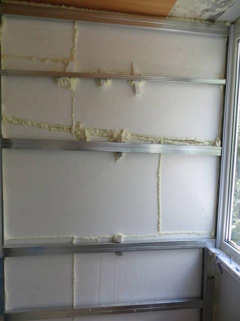 Внутренняя отделка лоджии ламинированным пластиком -1