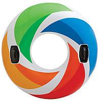 """Круг для плавания 58202 """"Цветная капля"""" Intex ZN"""