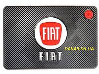 Антискользящий силиконовый коврик на торпедо с логотипом Fiat v2 Фиат