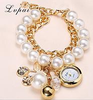Стильные женские часы с камнями код 266