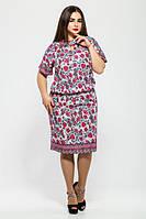 Женское летнее платье Катарина белое 50-58 размеры