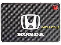 Антискользящий силиконовый коврик на торпедо с логотипом Honda v2 Хонда