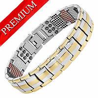 Магнитный браслет - Премиум Топ Люксор (gold - silver)