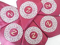 Набор эксклюзивных именных салфеток с вышивкой ручной работы 6 шт