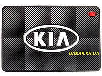 Антискользящий силиконовый коврик на торпедо с логотипом Kia v2 Киа